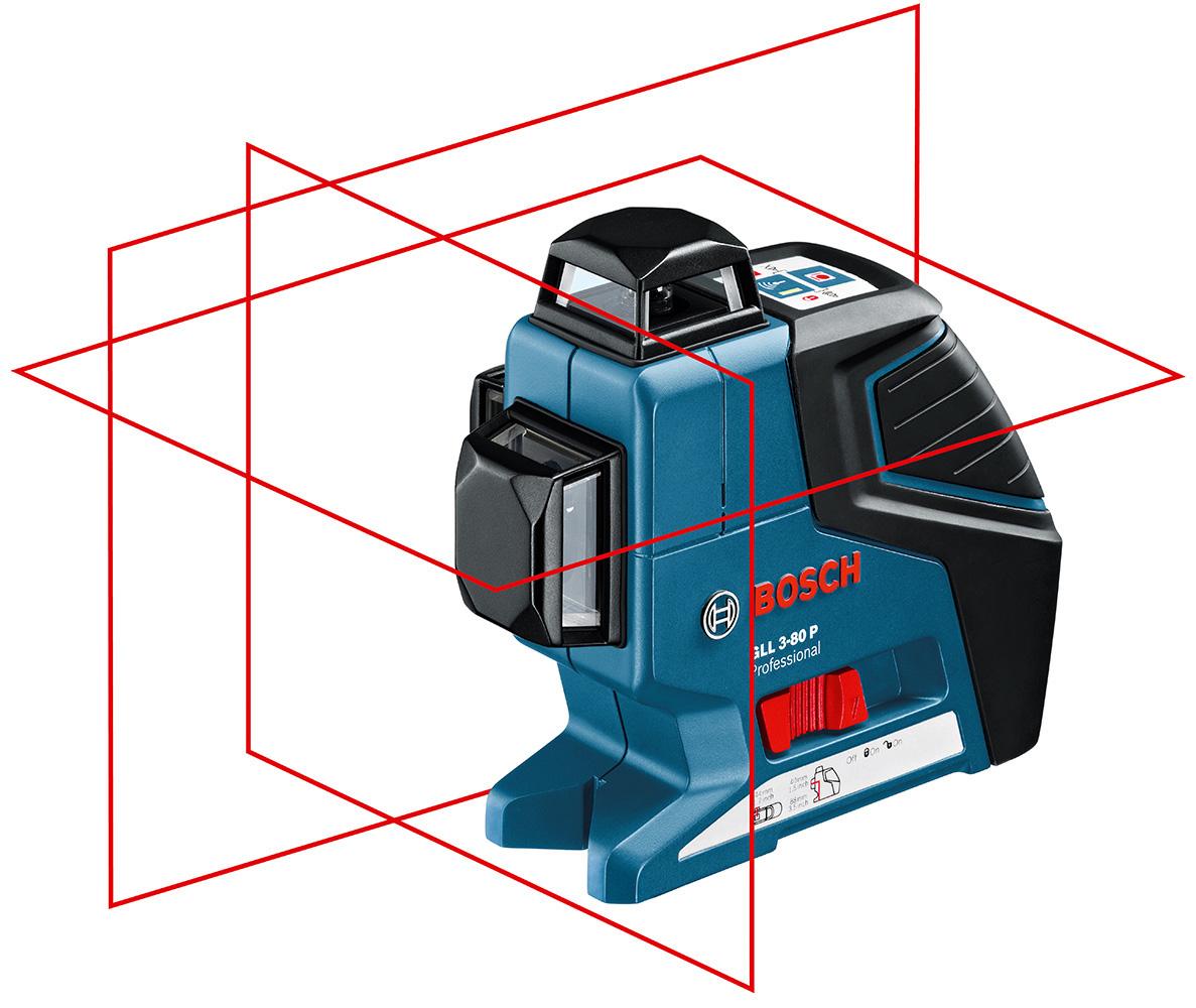 Křížový čárový laser GLL 3-80P Pro + stativ BT 150