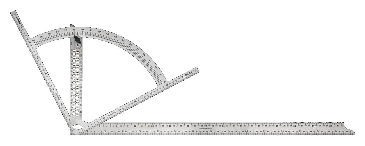 Úhloměr tesařský SOLA AW 800 800×400 mm