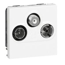 Zásuvka TV-R-SAT Mosaic, bílá, 2 moduly
