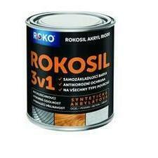 Barva samozákladující Rokosil akryl 3v1 RK 300 bílá 0,6 l
