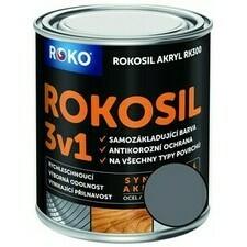 Barva samozákladující Rokosil akryl 3v1 RK 300 šedá stř. 0,6 l