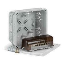 Krabices víčkem a ekvipotenciální svorkovnicí KO 125 E/EQ02 KA