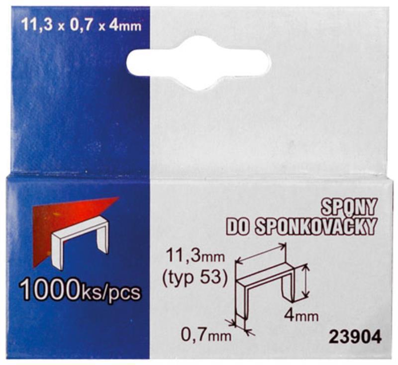 Ocelové spony box 12 mm (1000 ks/bal)