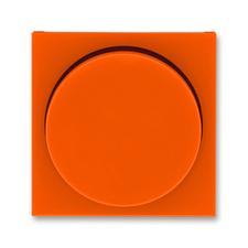 Kryt stmívače s otočným ovladačem Levit oranž/kouřová černá