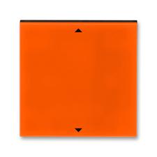 Kryt spínače žaluziového s krátkocestným ovladačem Levit oranžová / kouřová černá