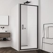 Dveře jednokřídlé SanSwiss TLSP 700 mm, Black Line, čiré