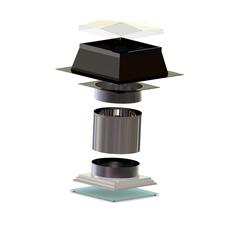 Světlovod pro plochou střechu SUNIZER SQUARE průměr 230 mm