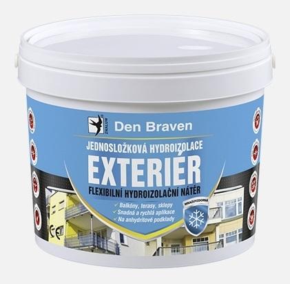 Jednosložková disperzní hydroizolace Den Braven exteriér, 2,5 kg