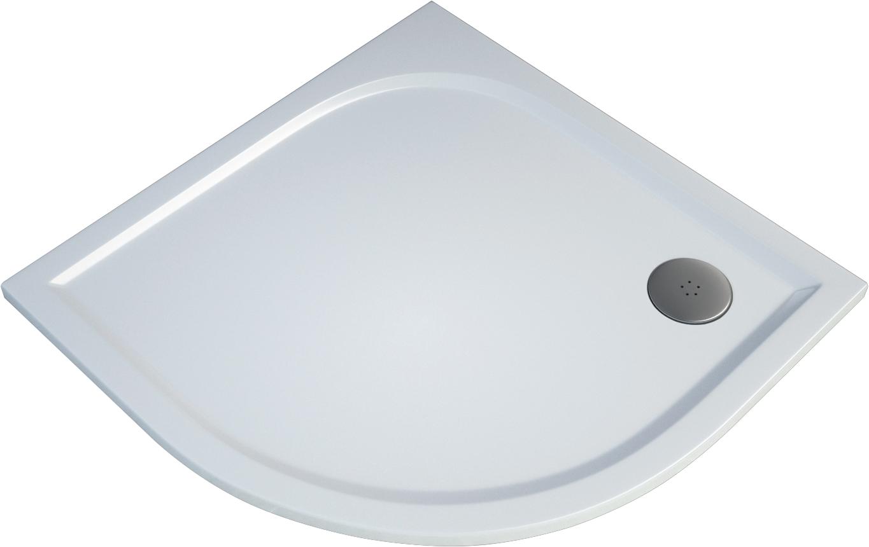 Čtvrtkruhová sprchová vanička TRACY 1000×1000×30 mm, R550, litý mramor