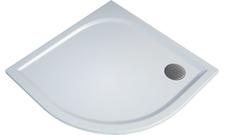 Čtvrtkruhová sprchová vanička TRACY 800×800×30 mm, R550, litý mramor