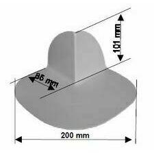 Rohová tvarovka SIKAPLAN S-Corner PVC 90° A, vnější roh (světle šedá)
