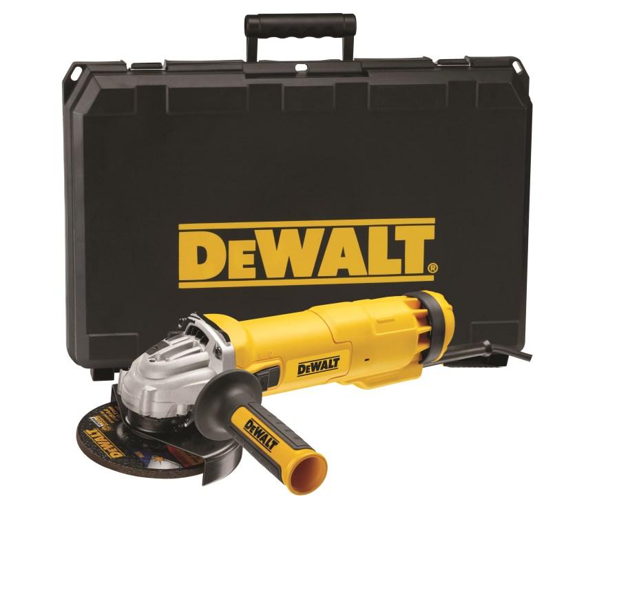Úhlová bruska DeWALT 125mm, 1400W, v kufru