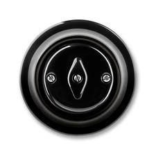 Přepínač křížový otočný Decento černá