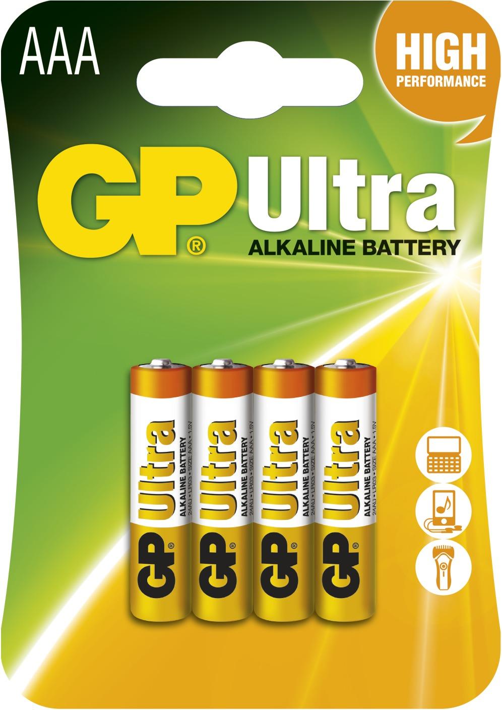 Baterie alkalická GP ULTRA LR03(AAA) (4 ks/bal)