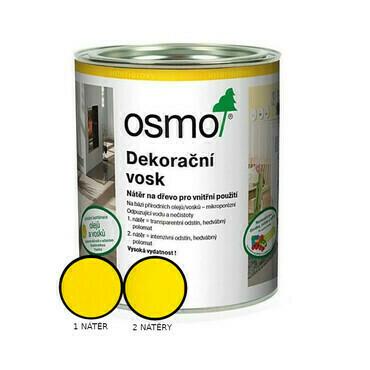 Vosk dekorační Osmo 3105 intenzivní žlutý RAL 1021 0,375 l
