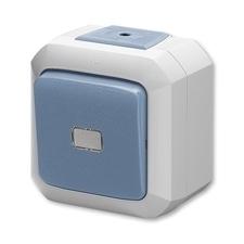 Ovládač přepínací bezšroubový IP 54 Variant modrá