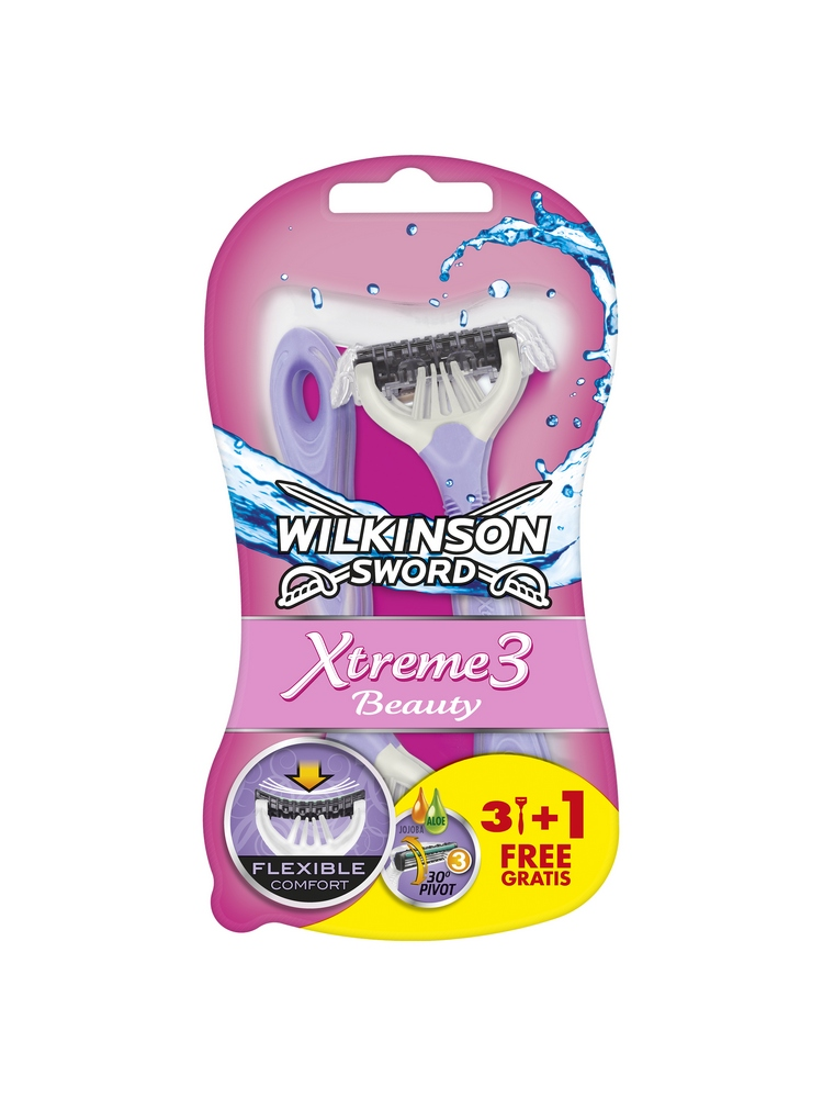 Jednorázový holicí strojek (3+1 ks) WILKINSON Xtreme3 Beauty