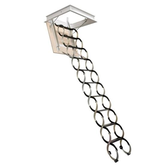 Půdní stahovací schody LUSSO s jednoduchým dřevotřískovým víkem