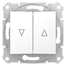 Ovládač tlačítkový žaluziový řazení 1/0+1/0 Schneider Sedna