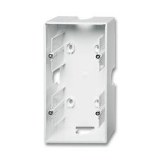 Dvojkrabice přístrojová nástěnná Future linear studio bílá