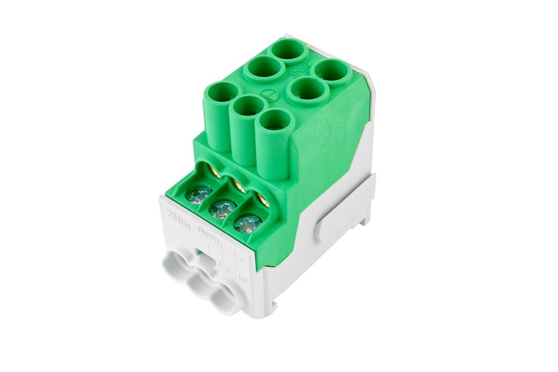 Rozváděčový blok UVB zelený, cena za ks
