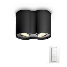 Svítidlo bodové 2×5,5W, Philips Hue Pillar černá, bluetooth