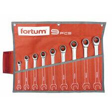 Klíče očkoploché ráčnové Fortum 9 ks