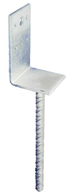 Patka kotevní 100×100×4×18 mm 250 mm