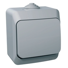 Ovládač tlačítkový řazení 1/0 Schneider Cedar, kompletní