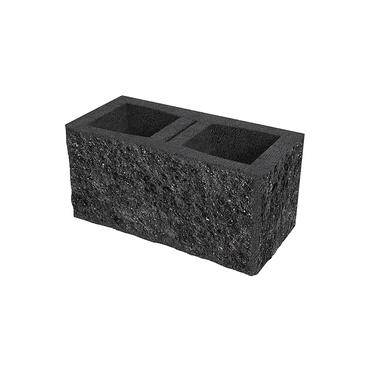 Tvárnice plotová štípaná DITON C rohová s fazetou černá