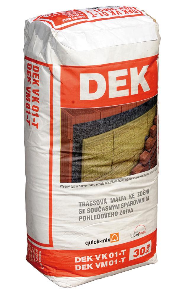 Malta pro lícové zdivo Quick-mix DEK-VM 01-T šedá, 30 kg