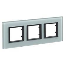Rámeček trojnásobný, Unica Class, grey glass