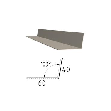 Koutová lišta z poplastovaného plechu Viplanyl 40x60 r.š. 100 mm