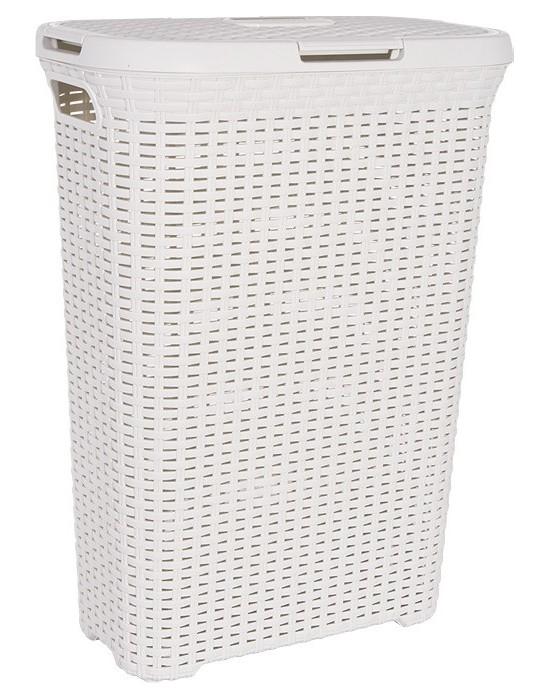 Koš na prádlo STYLE RECT 40 l krémový