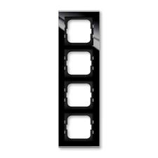 Rámeček ABB Busch-axcent čtyřnásobný sklo černé