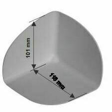 Rohová tvarovka SIKAPLAN S-Corner PVC 90° I, vnitřní roh (světle šedá)