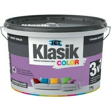 Malba interiérová HET Klasik Color fialový šeříkový, 4 kg