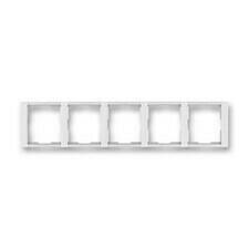 Rámeček horizontální pětinásobný, Time bílá/ledově bílá