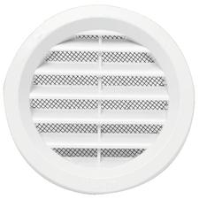 Mřížka větrací kruhová se síťovinou VM průměr 100 mm, bílá