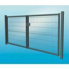 Plotová brána 3D dvoukřídlá z pozinkované oceli, výška 1530 mm, šířka 3500 mm