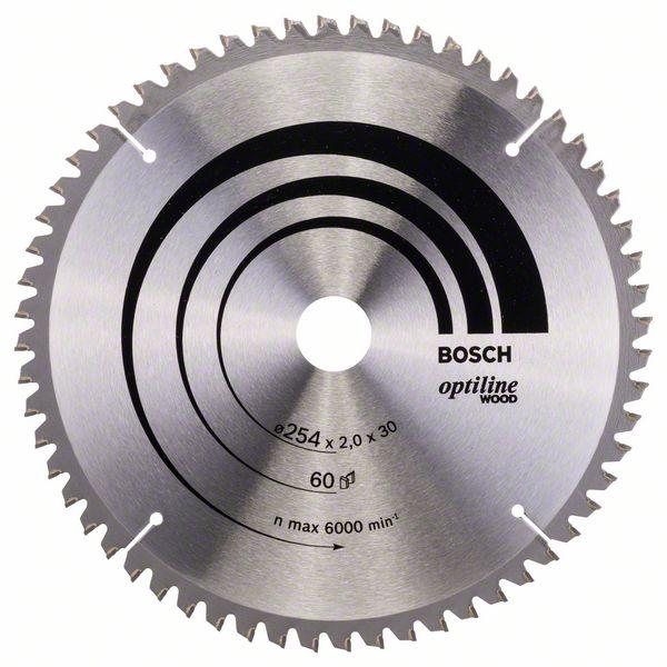 Kotouč pilový Bosch Optiline Wood 254×30×1,4 mm 60 z.