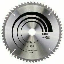 Kotouč pilový Bosch Optiline Wood 254×30×2 mm 60 z.