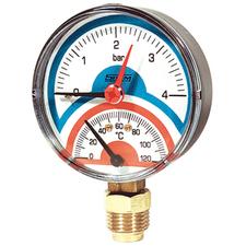 "Termomanometr 1/2"" spodní DN 80 / 0-6 bar / 0-120°C"