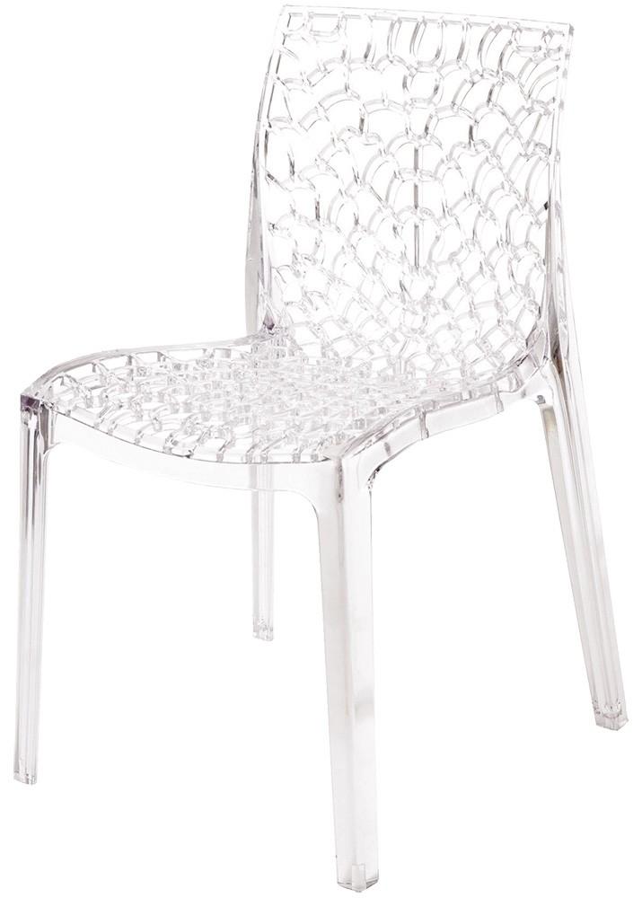 Židle GRUVYER polykarbonát transparente
