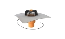 Elektricky vyhřívaná svislá střešní vpusť TOPWET s PVC límcem průměr 75 mm