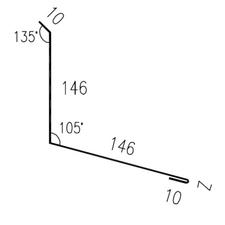 Lemování zdi rovnoběžné s okapem RS312S-105 SP25 CH 2M264 0,50mm 2bm