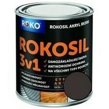 Barva samozákladující Rokosil akryl 3v1 RK 300 hnědá kaš. 0,6 l