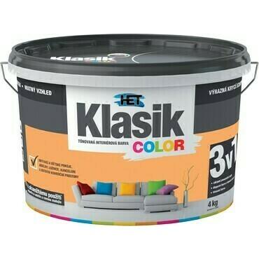 Malba interiérová HET Klasik Color meruňkový, 4 kg