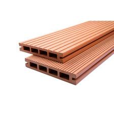Prkno terasové dřevoplastové DŘEVOplus DUAL světlý dub 25×150×4000 mm