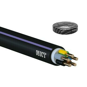 Kabel CYKY-J 5× 1,5 RE 50m/bal